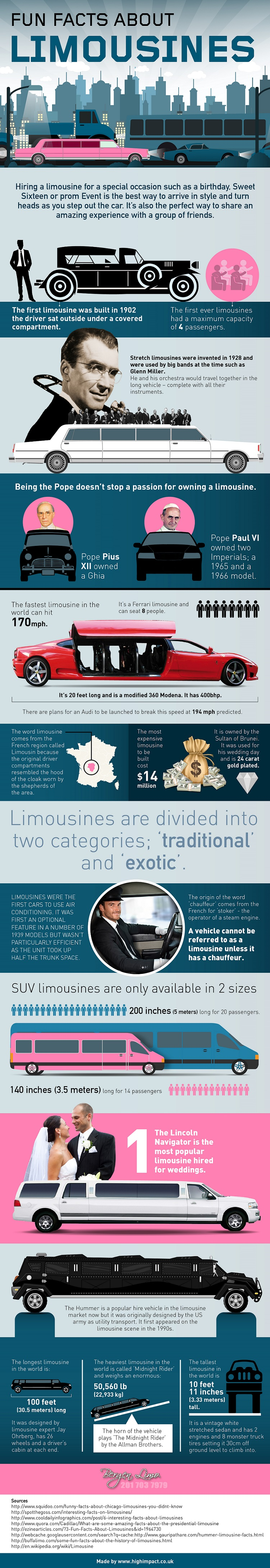 Fun Facts About Limousines Infographic