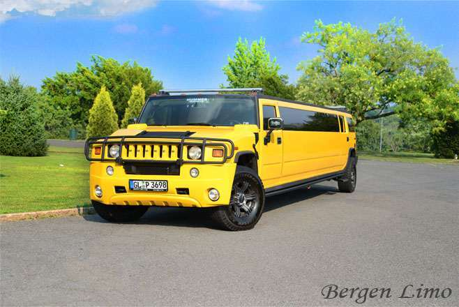 Yellow Hummer Limo in NJ / NY by Bergenlimo