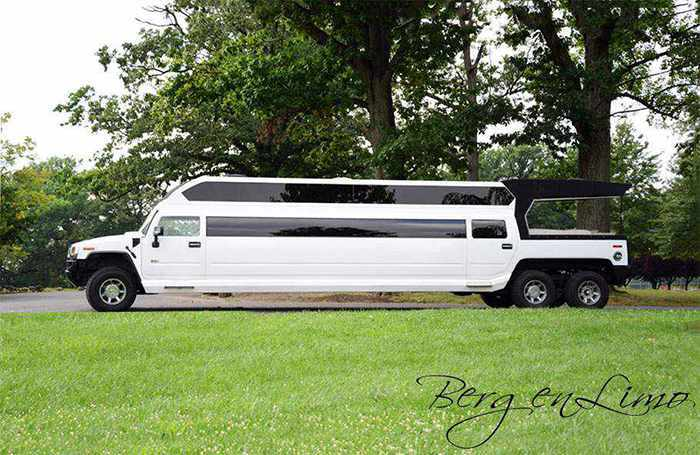 White Party Bus Hummer