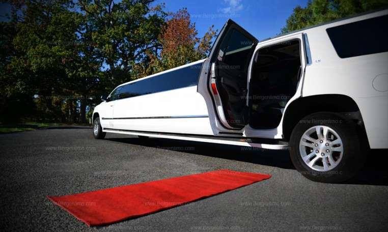 Brand New White Cadillac Escalade Stretch Limo