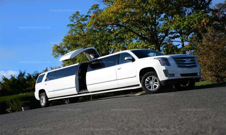 White escalade limo